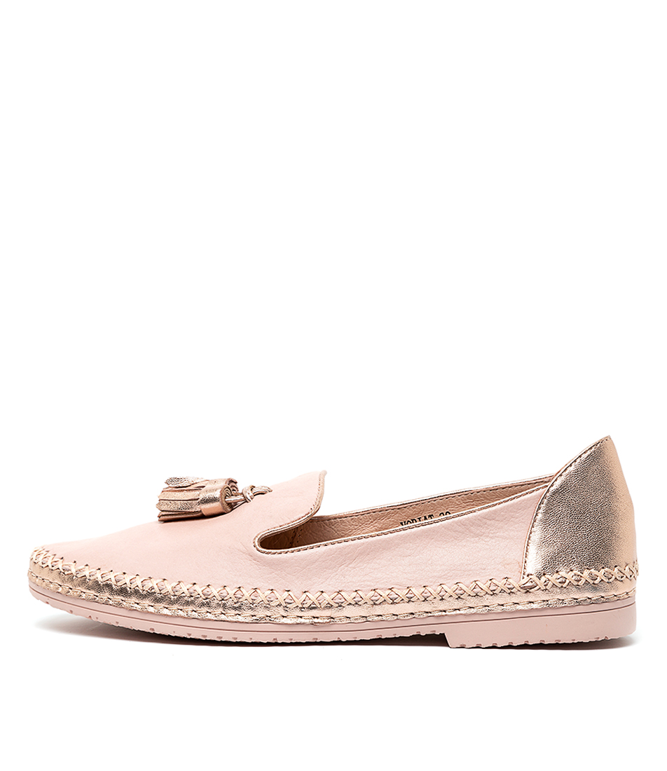 Buy Django & Juliette Voriat Pale Pink Rose Gold Flats online with free shipping