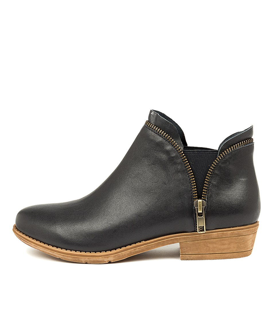 Buy Django & Juliette Rubee Navy Ankle Boots online with free shipping