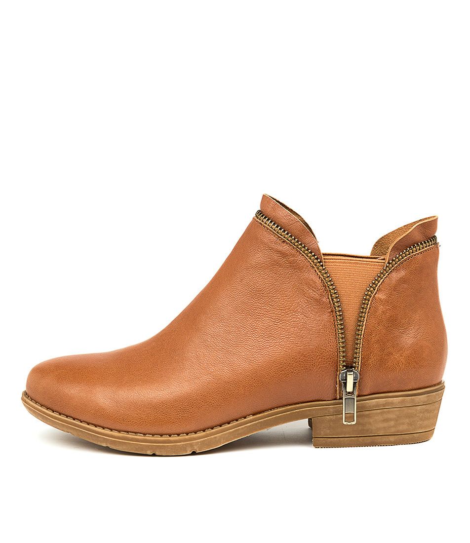 Buy Django & Juliette Rubee Tan Ankle Boots online with free shipping