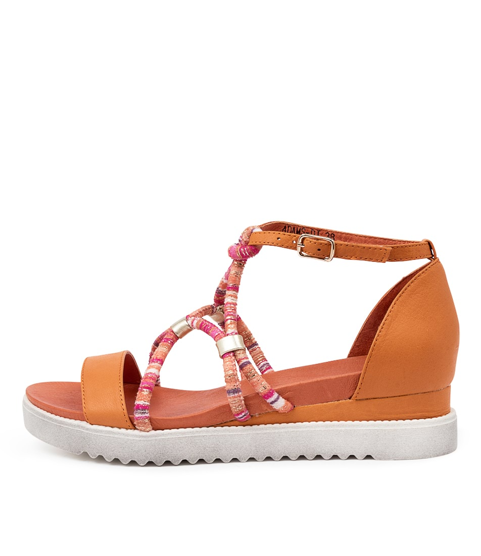 Buy Django & Juliette Adams Dj Orange Heeled Sandals online with free shipping