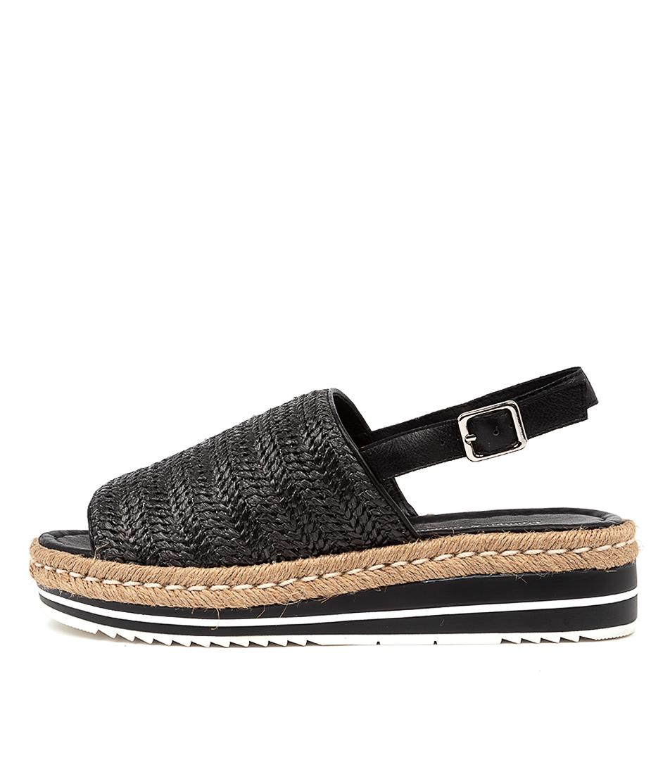 Buy Django & Juliette Adlines Dj Black Heeled Sandals online with free shipping