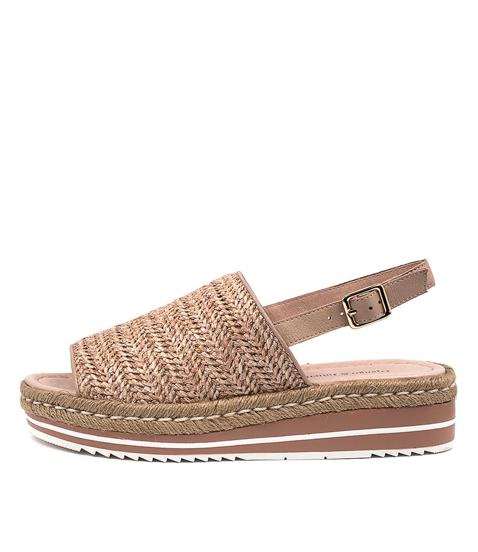 Buy Django & Juliette Adlines Dj Coffee Heeled Sandals online with free shipping