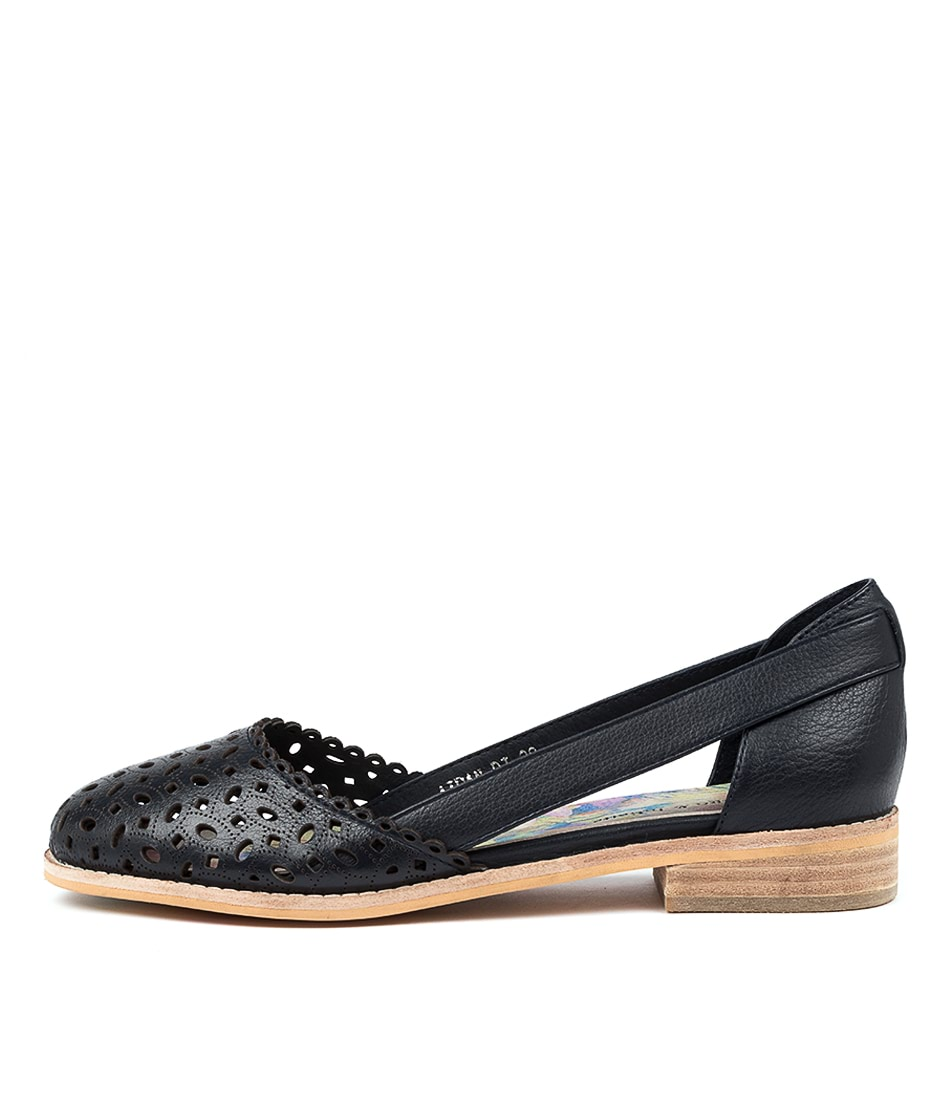 Buy Django & Juliette Aidan Dj Navy Flats online with free shipping