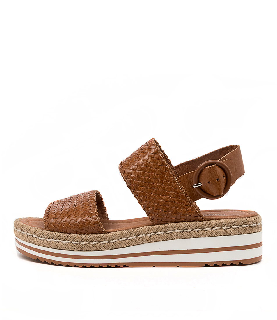 Buy Django & Juliette Alesha Dj Tan Flat Sandals online with free shipping