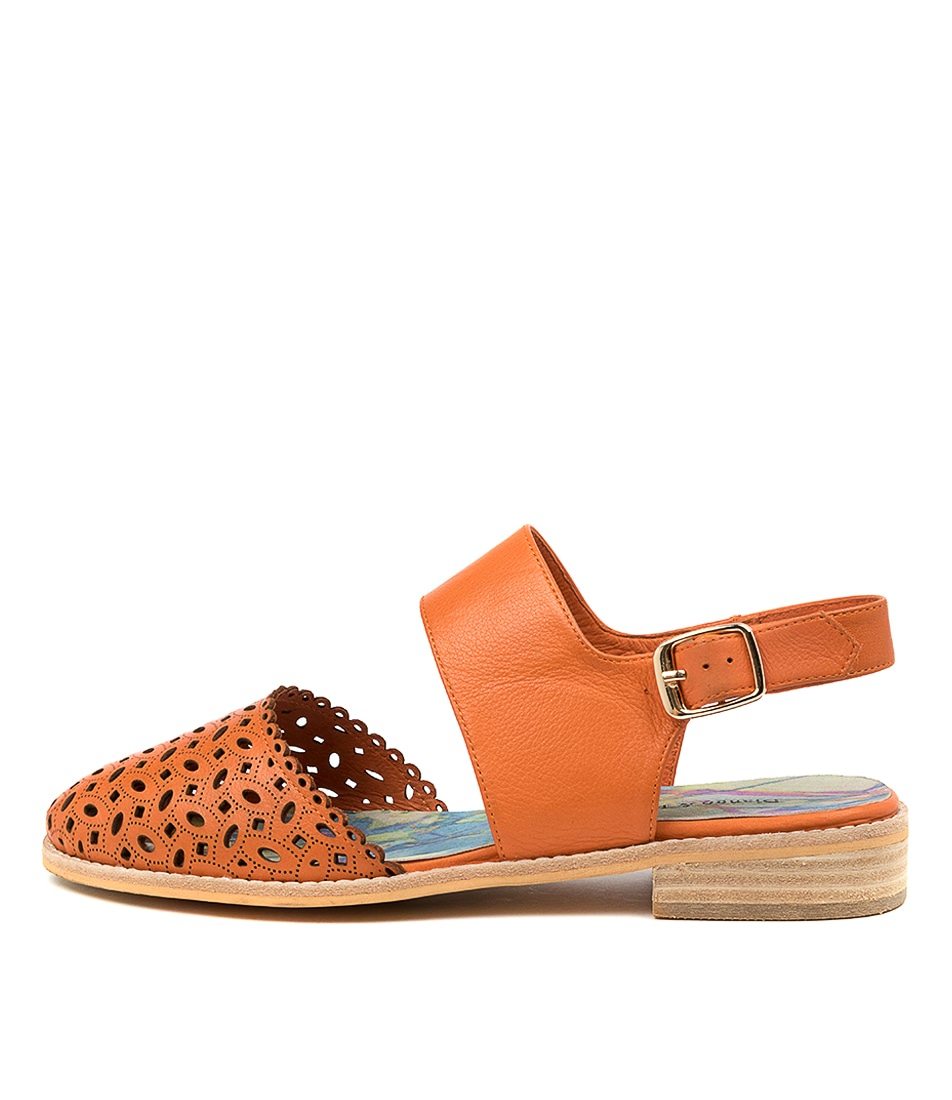 Buy Django & Juliette Alfred Dj Bright Orange Flats online with free shipping
