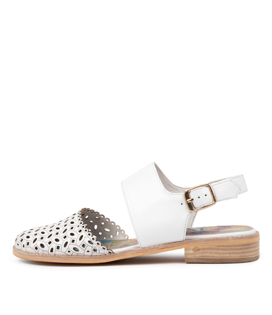 Buy Django & Juliette Alfred Dj White Flats online with free shipping