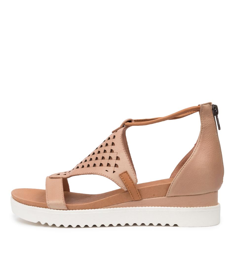 Buy Django & Juliette Alfronze Dj Nude Dk Tan Heeled Sandals online with free shipping