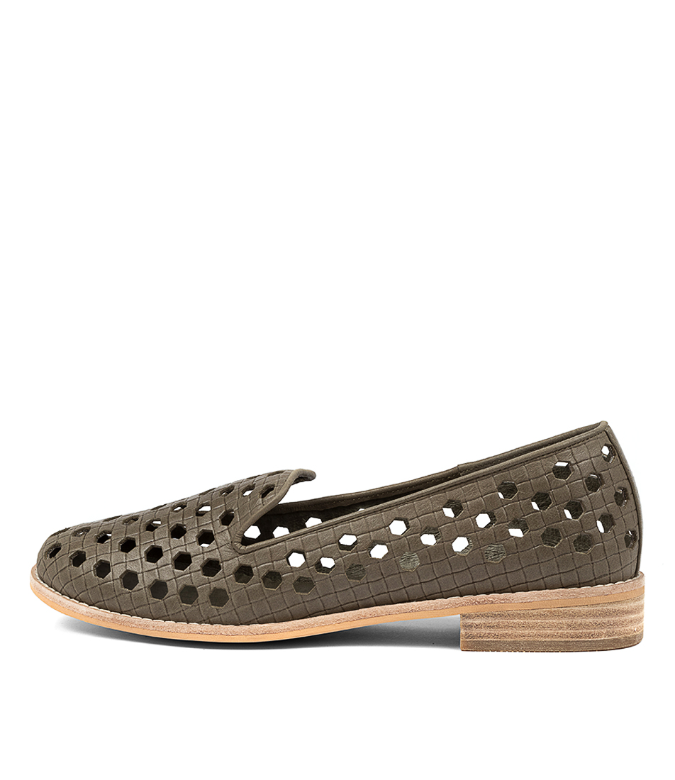 Buy Django & Juliette Alina Dj Khaki Flats online with free shipping