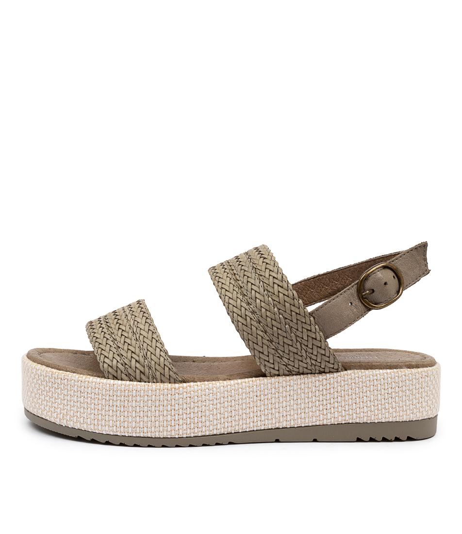 Buy Django & Juliette Allison Dj Khaki Khaki Heeled Sandals online with free shipping