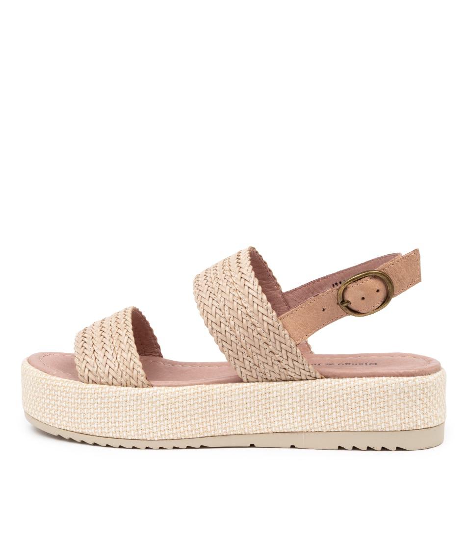 Buy Django & Juliette Allison Dj Nougat Caf Heeled Sandals online with free shipping