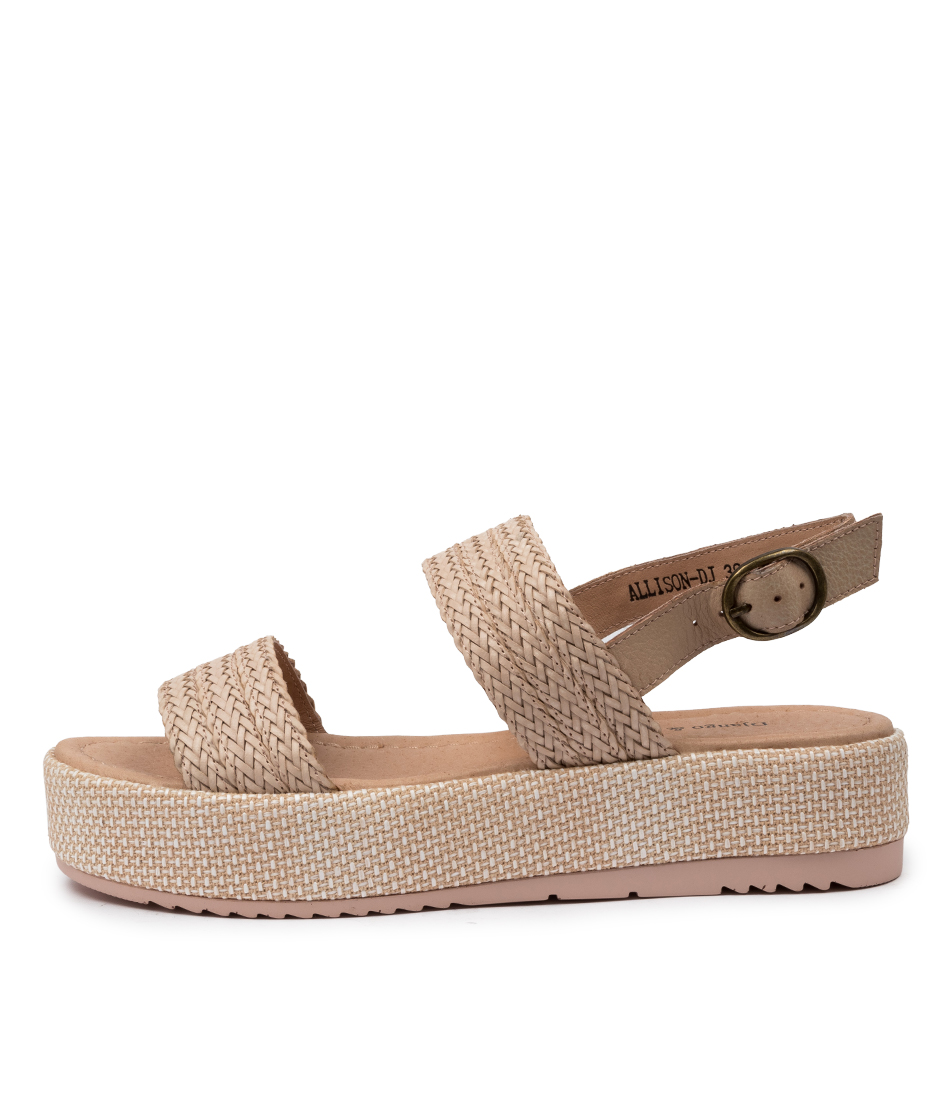 Buy Django & Juliette Allison Dj Nude Nude Heeled Sandals online with free shipping