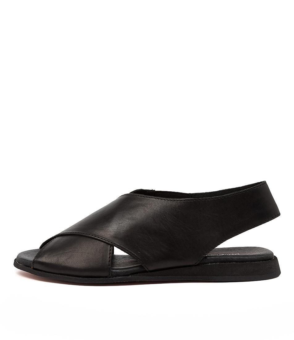Buy Django & Juliette Amariss Dj Black Flat Sandals online with free shipping
