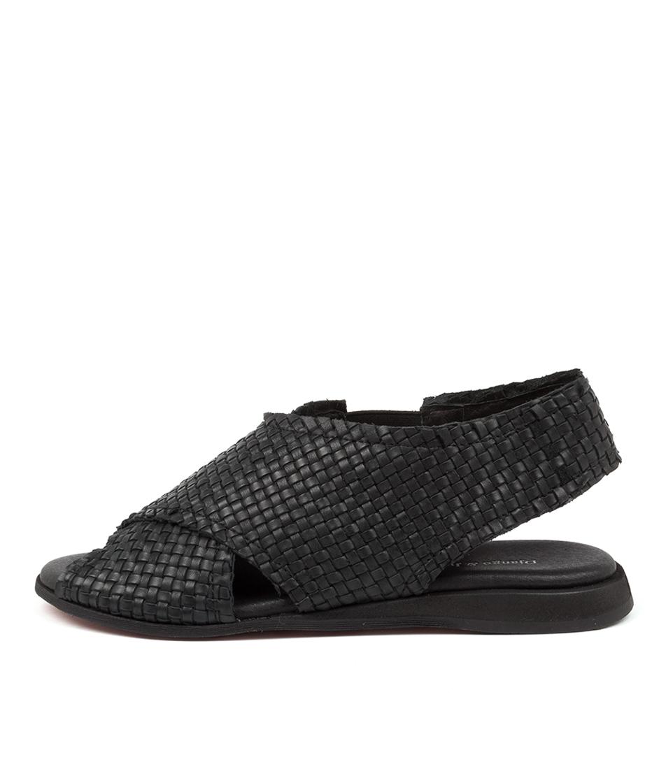 Buy Django & Juliette Amerons Dj Black Flat Sandals online with free shipping