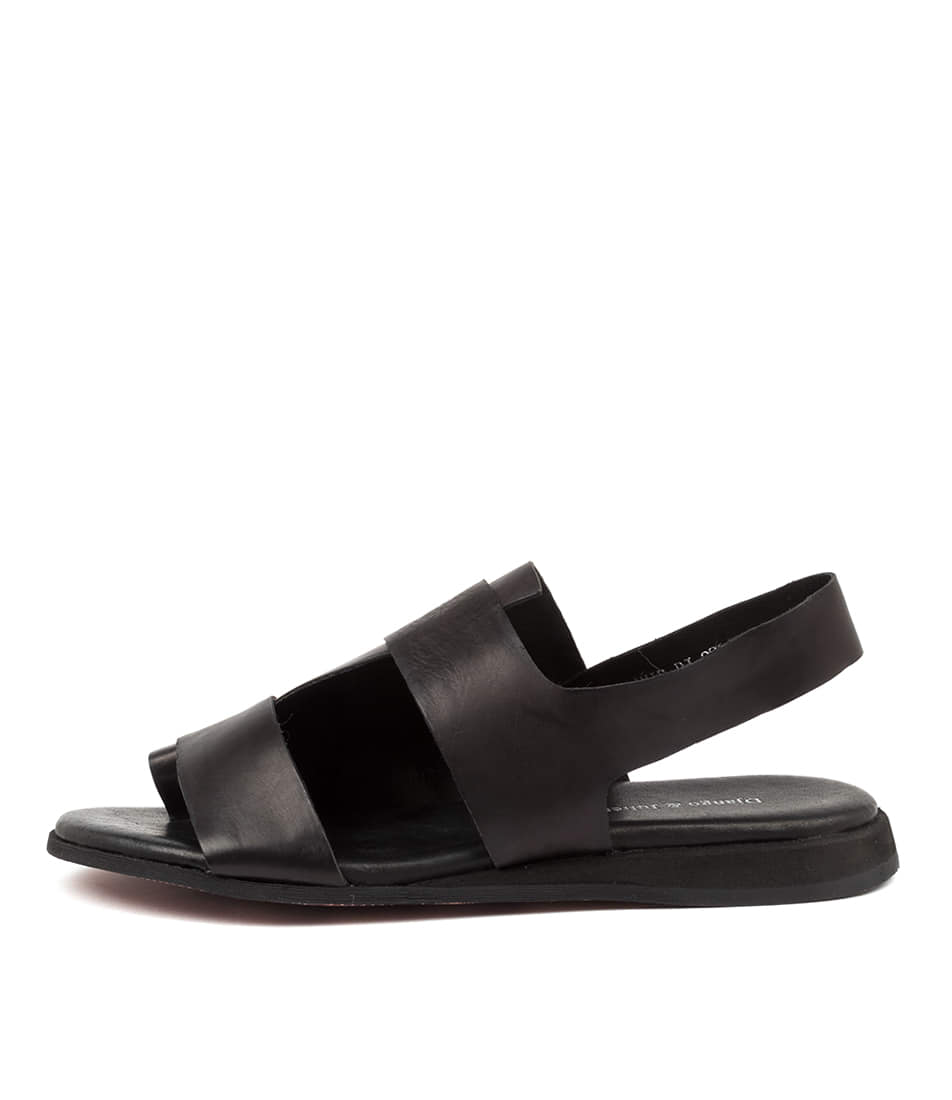 Buy Django & Juliette Amir Dj Black Flat Sandals online with free shipping