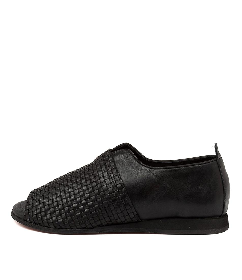 Buy Django & Juliette Analia Dj Black Flat Sandals online with free shipping