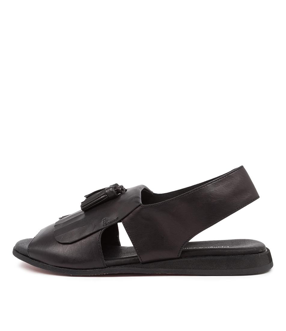 Buy Django & Juliette Ancel Dj Black Flat Sandals online with free shipping