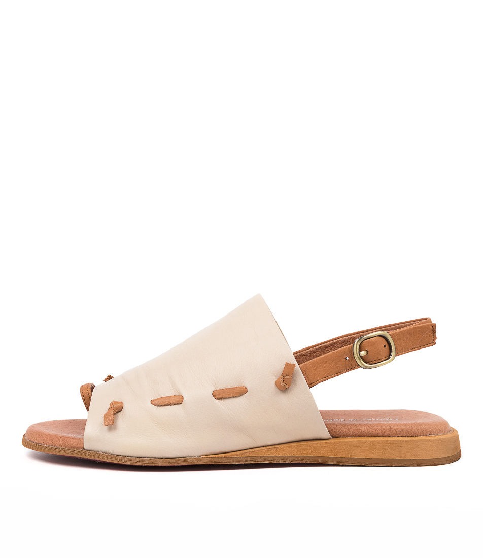 Buy Django & Juliette Anchila Dj Dk Tan Nougat Flat Sandals online with free shipping