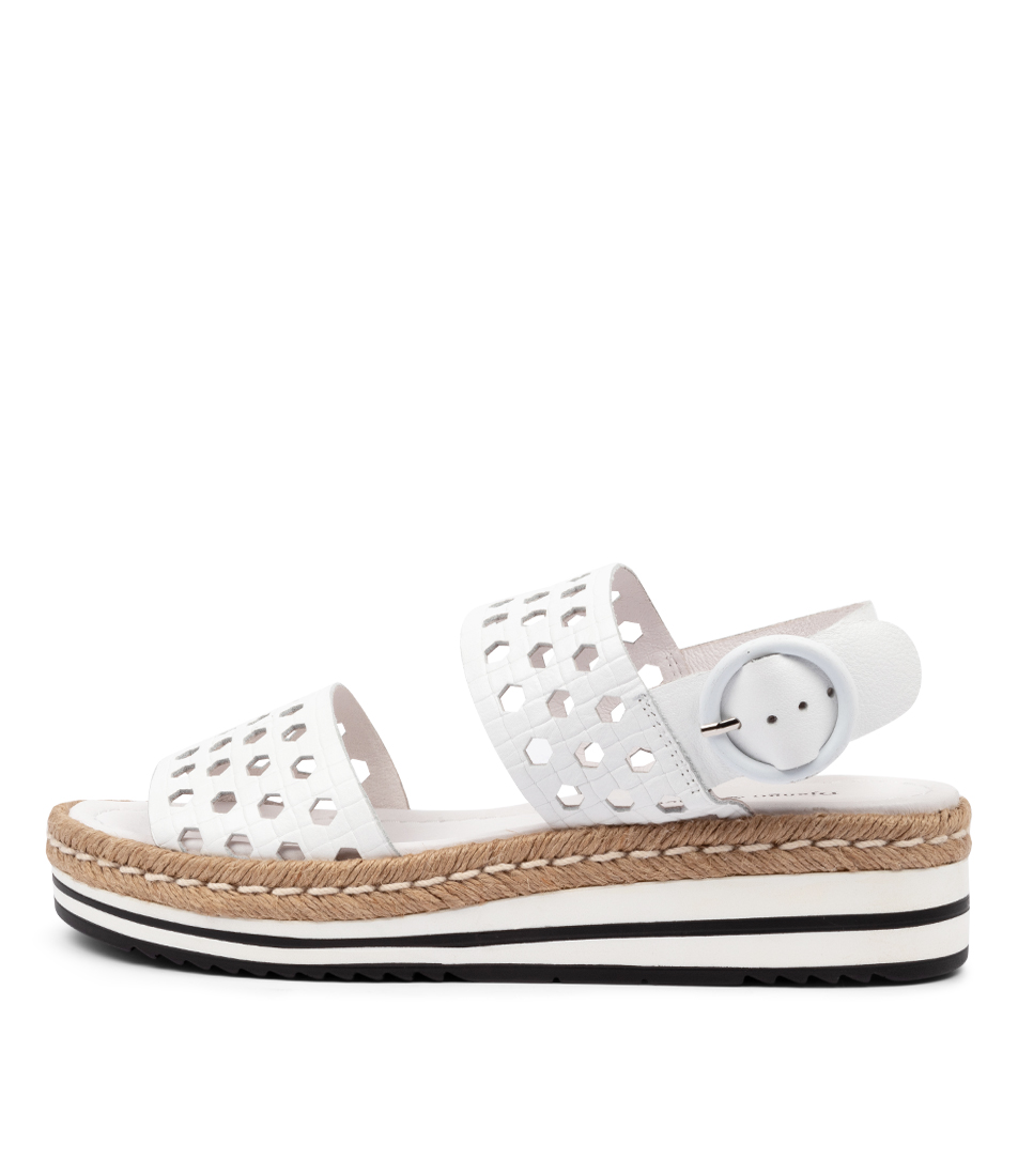 Buy Django & Juliette Arie Dj White Flat Sandals online with free shipping