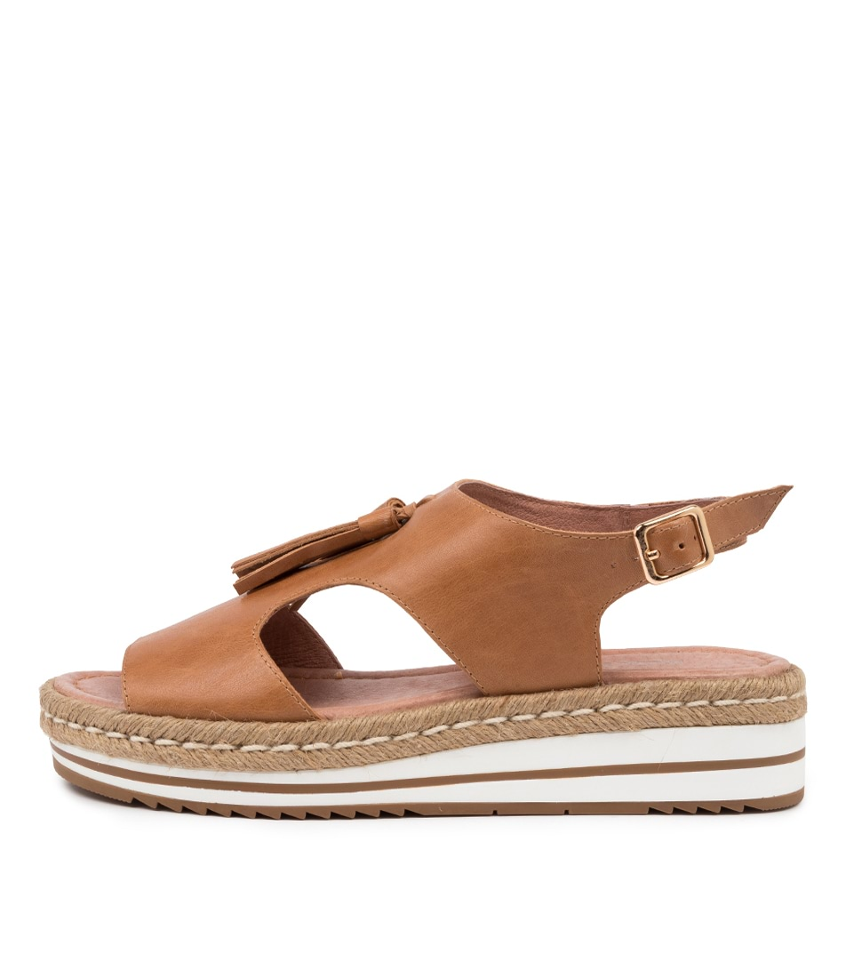 Buy Django & Juliette Askye Dj Dk Tan Heeled Sandals online with free shipping