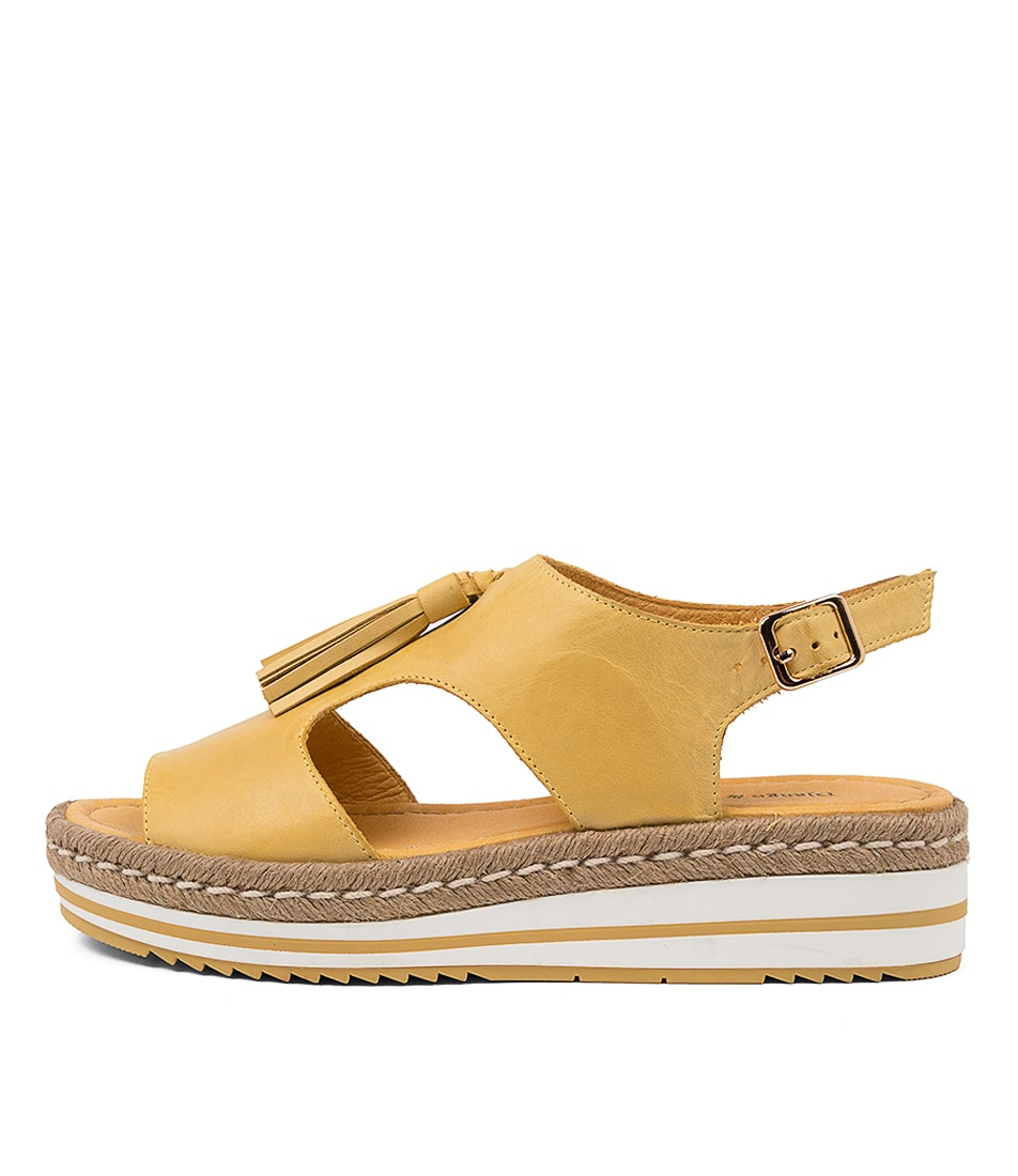Buy Django & Juliette Askye Dj Yellow Heeled Sandals online with free shipping