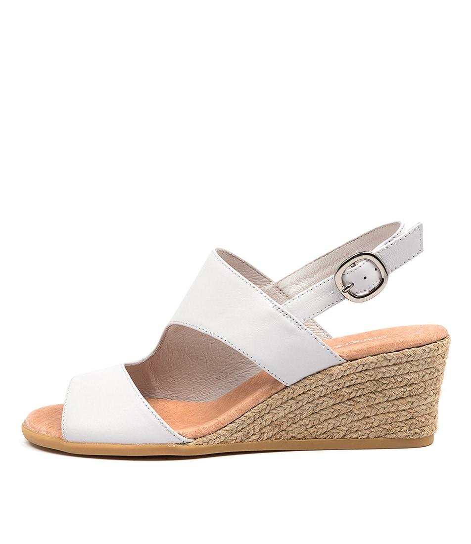 Buy Django & Juliette Baylie Dj White Heeled Sandals online with free shipping