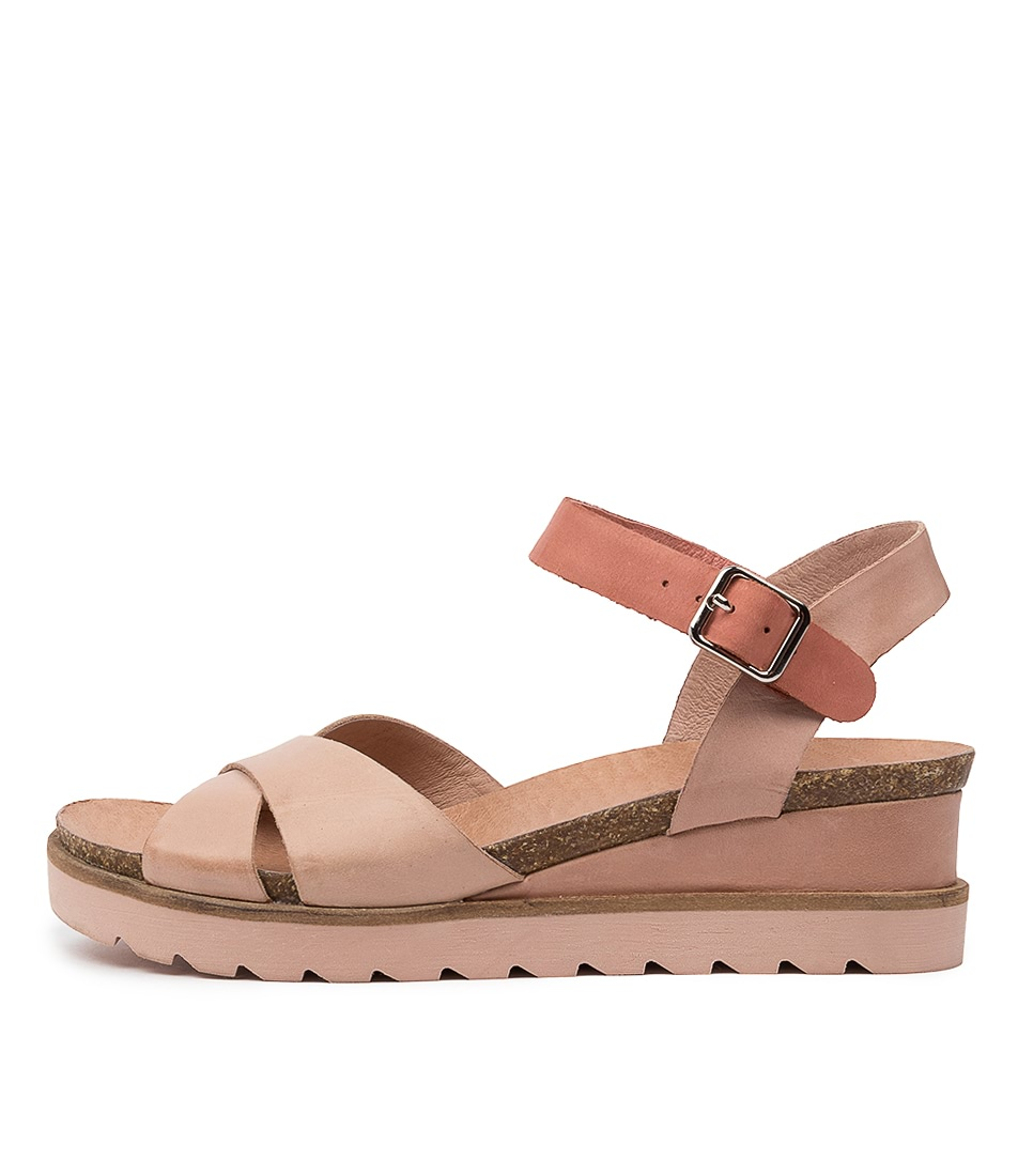 Buy Django & Juliette Blaine Dj Nude Coral Flat Sandals online with free shipping