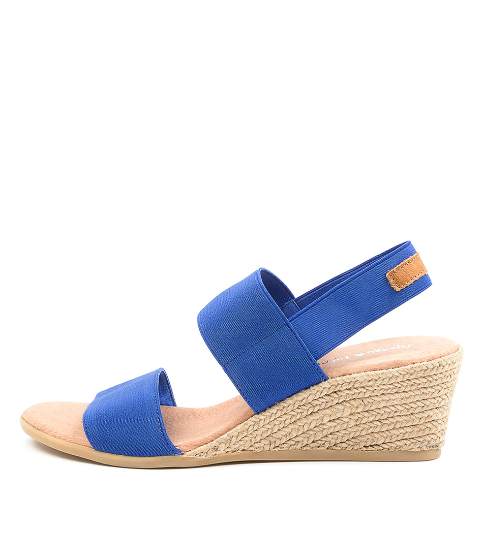 Buy Django & Juliette Bloomy Dj Cobalt Tan Heeled Sandals online with free shipping