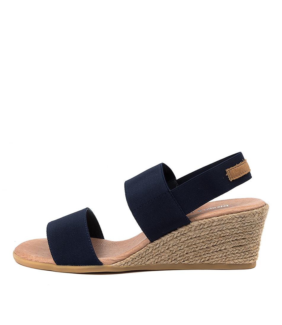 Buy Django & Juliette Bloomy Dj Navy Tan Heeled Sandals online with free shipping