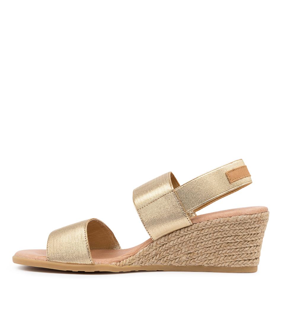 Buy Django & Juliette Bloomy Dj Pale Gold Tan Heeled Sandals online with free shipping