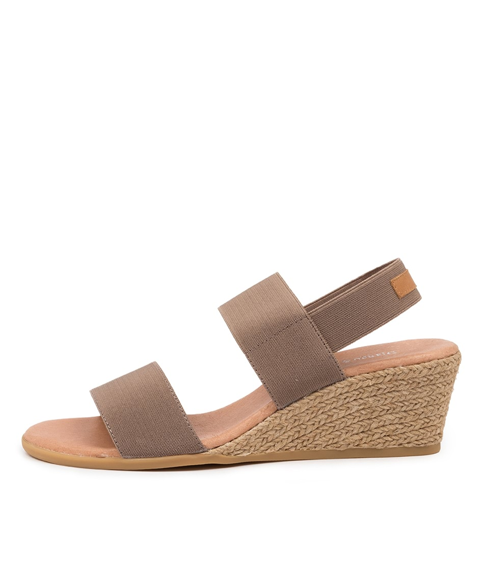 Buy Django & Juliette Bloomy Dj Taupe Tan Heeled Sandals online with free shipping