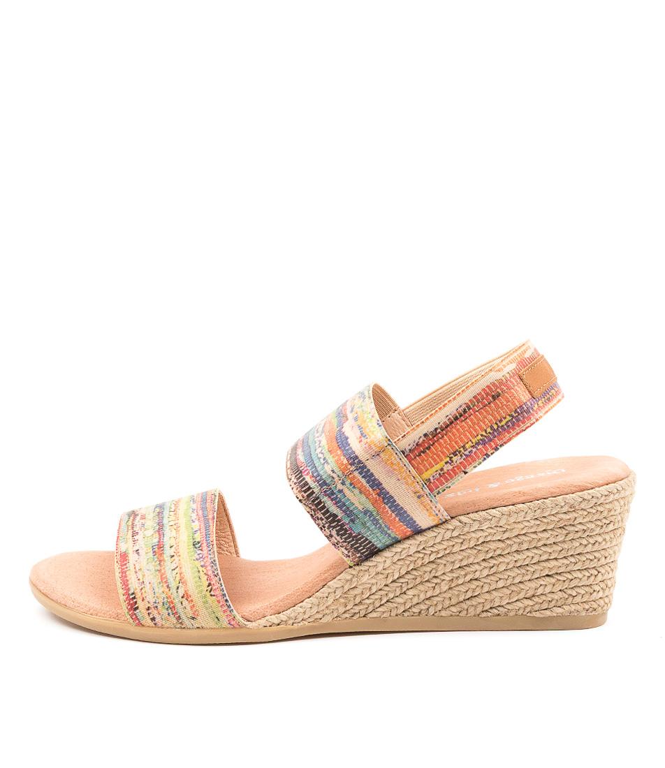 Buy Django & Juliette Bloomy Dj Natural Multi Tan Heeled Sandals online with free shipping