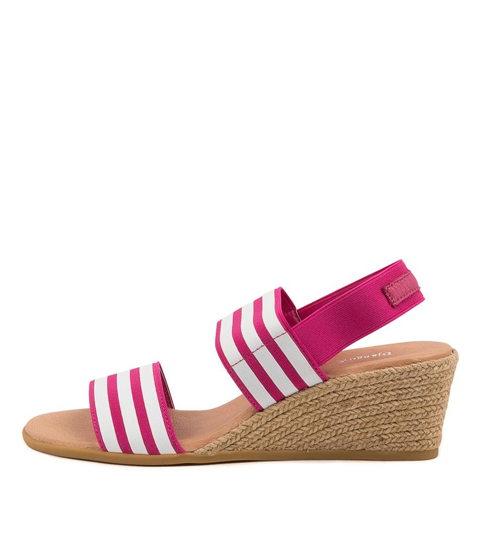 Buy Django & Juliette Bloomy Dj Fuchsia & White Fuchsia Heeled Sandals online with free shipping