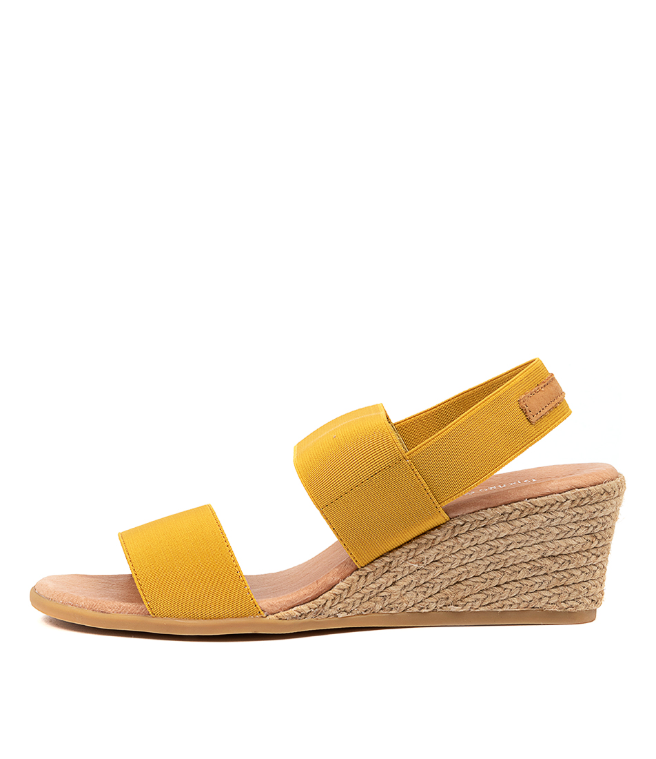 Buy Django & Juliette Bloomy Dj Yellow Tan Heeled Sandals online with free shipping