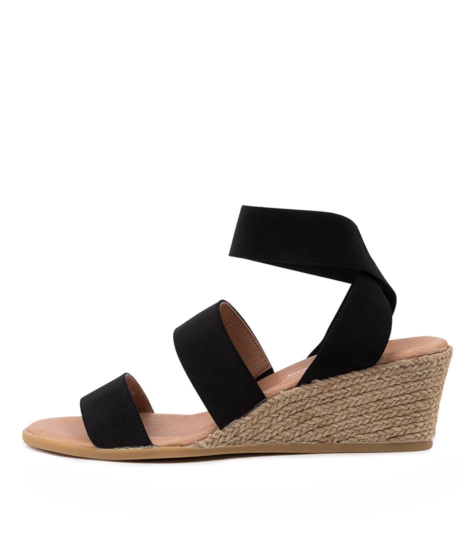 Buy Django & Juliette Bombom Dj Black Heeled Sandals online with free shipping