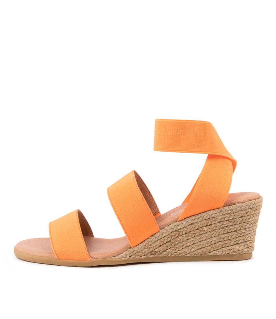Buy Django & Juliette Bombom Dj Orange Heeled Sandals online with free shipping