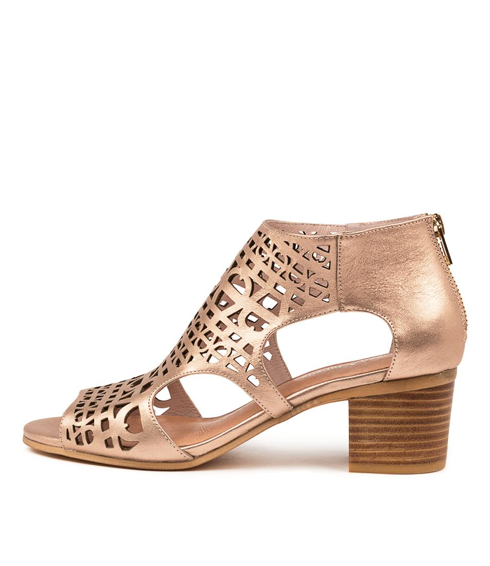 Buy Django & Juliette Boris Dj Rose Gold Heeled Sandals online with free shipping