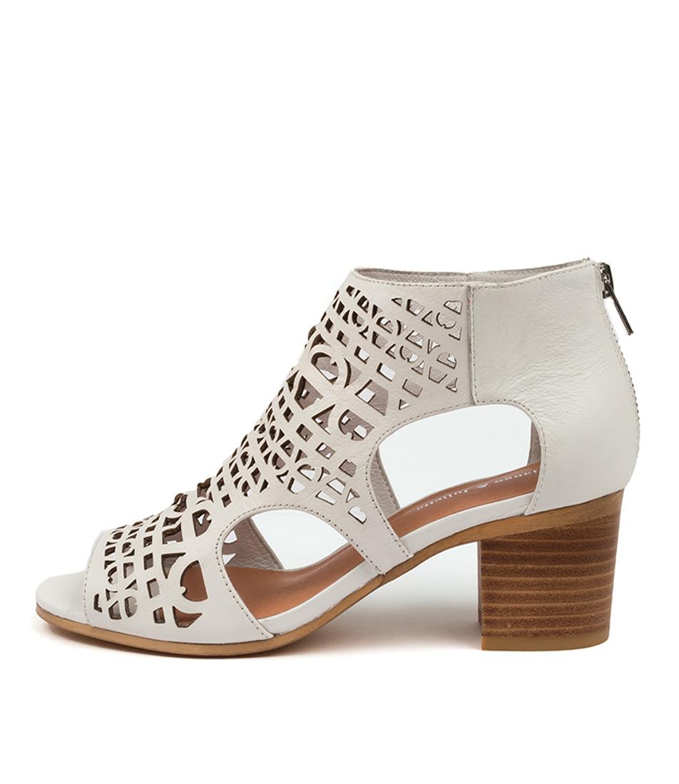 Buy Django & Juliette Boris Dj White Heeled Sandals online with free shipping