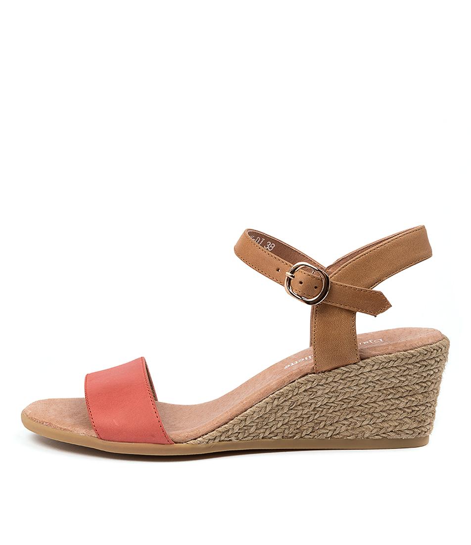Buy Django & Juliette Brook Dj Melon Tan Heeled Sandals online with free shipping
