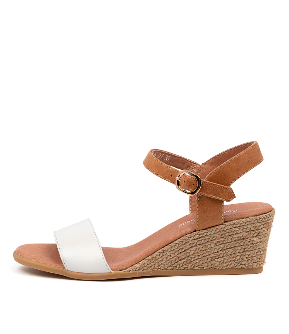 Buy Django & Juliette Brook Dj White Tan Heeled Sandals online with free shipping