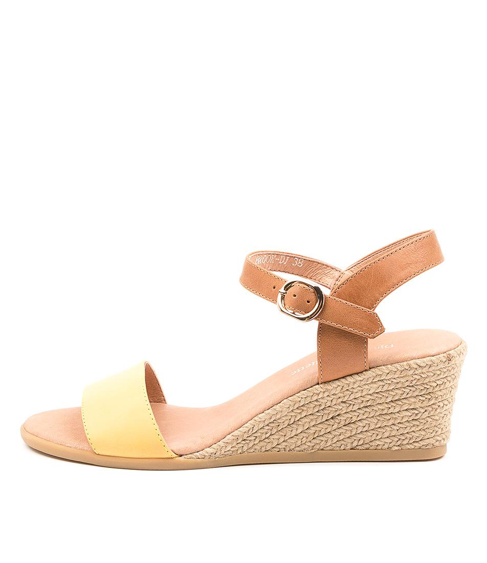 Buy Django & Juliette Brook Dj Yellow Tan Heeled Sandals online with free shipping