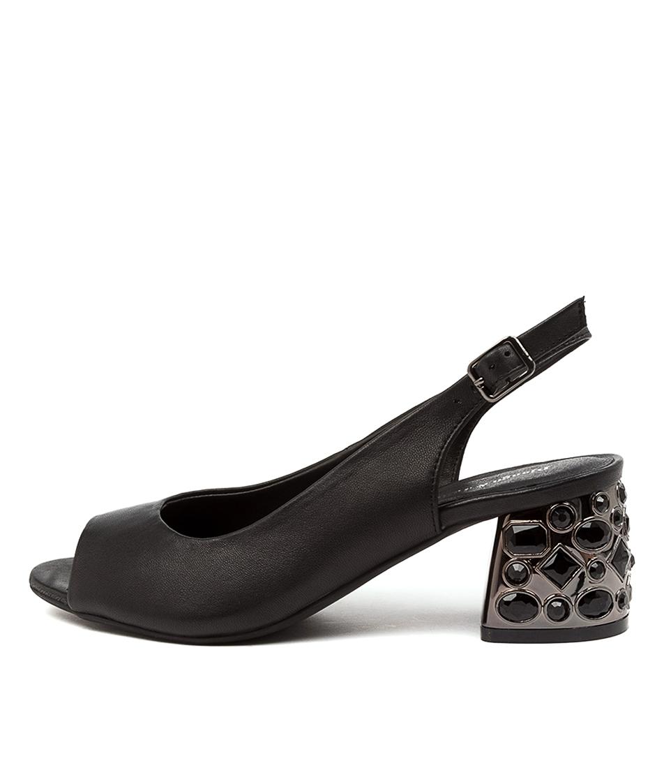 Buy Django & Juliette Brooks Dj Black Heeled Sandals online with free shipping