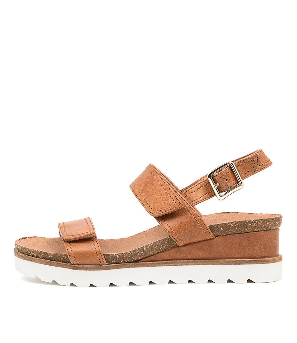 Buy Django & Juliette Burt Dj Dk Tan Flat Sandals online with free shipping