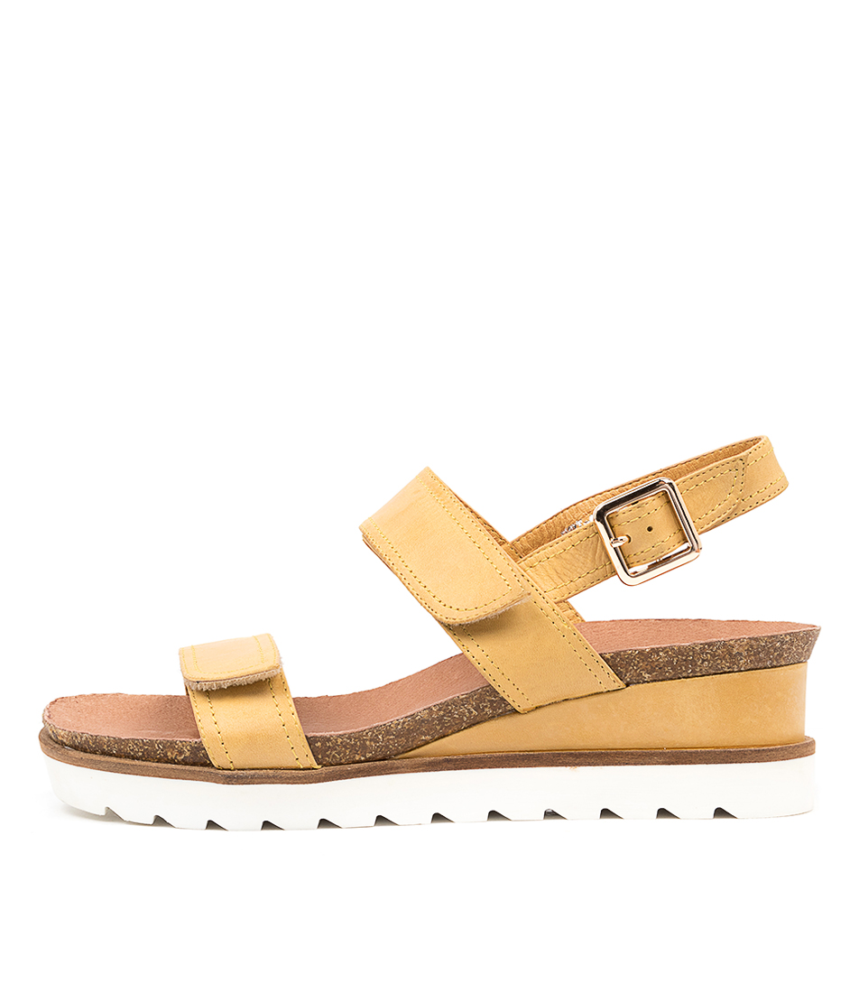 Buy Django & Juliette Burt Dj Dk Yellow Tan Flat Sandals online with free shipping