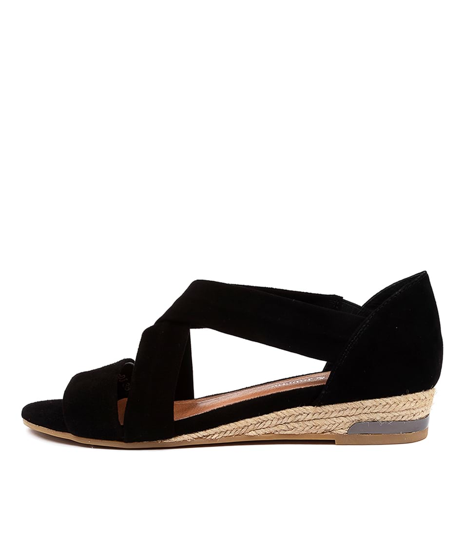 Buy Django & Juliette Cappies Dj Black Flat Sandals online with free shipping