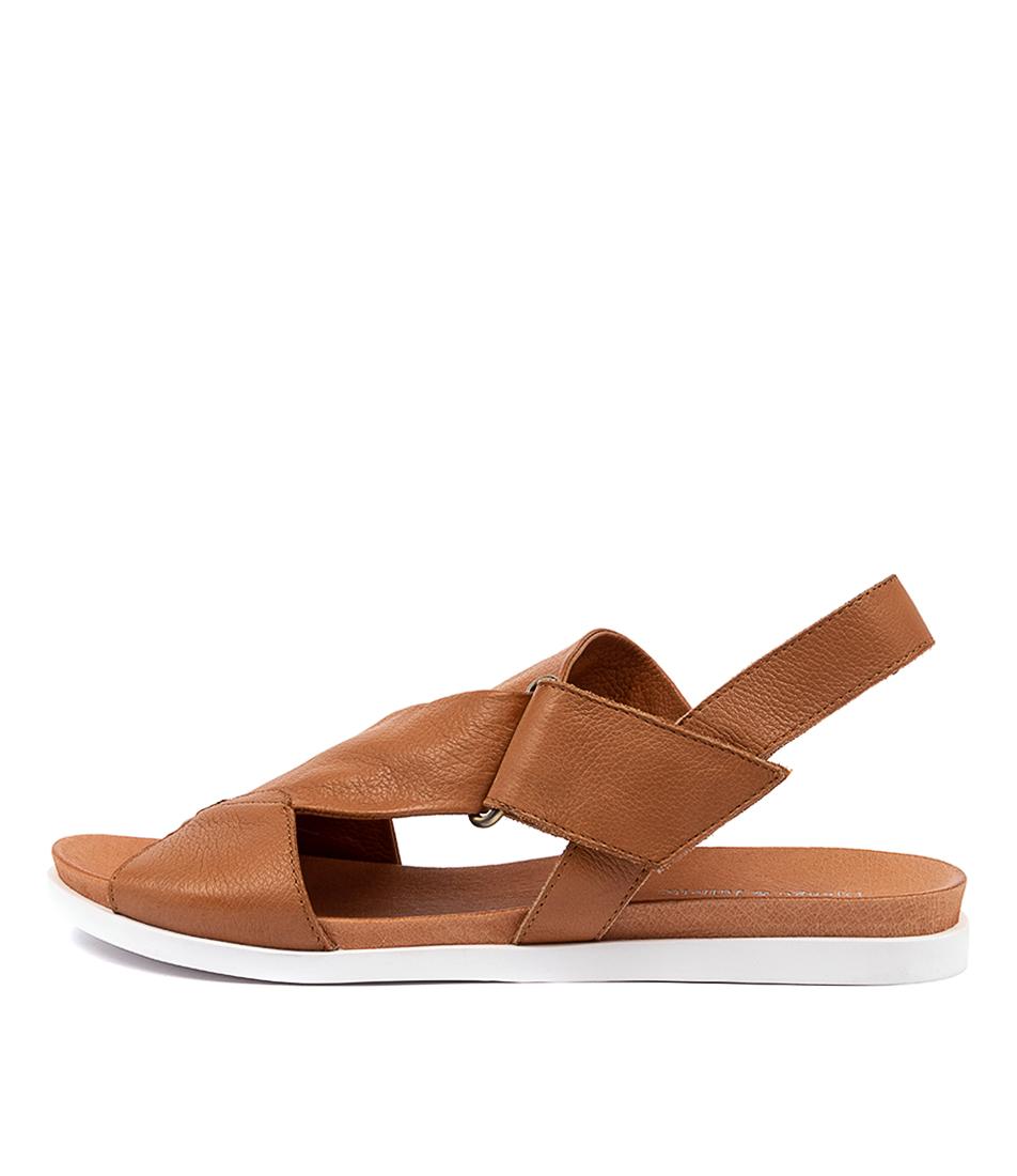 Buy Django & Juliette Carlosy Dj Dk Tan Flat Sandals online with free shipping