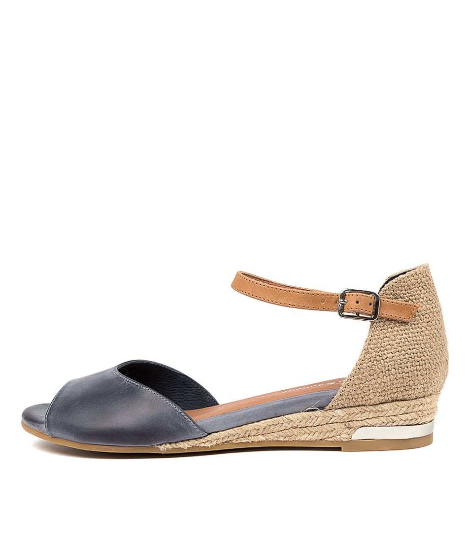 Buy Django & Juliette Cheryls Dj Navy Tan Flat Sandals online with free shipping