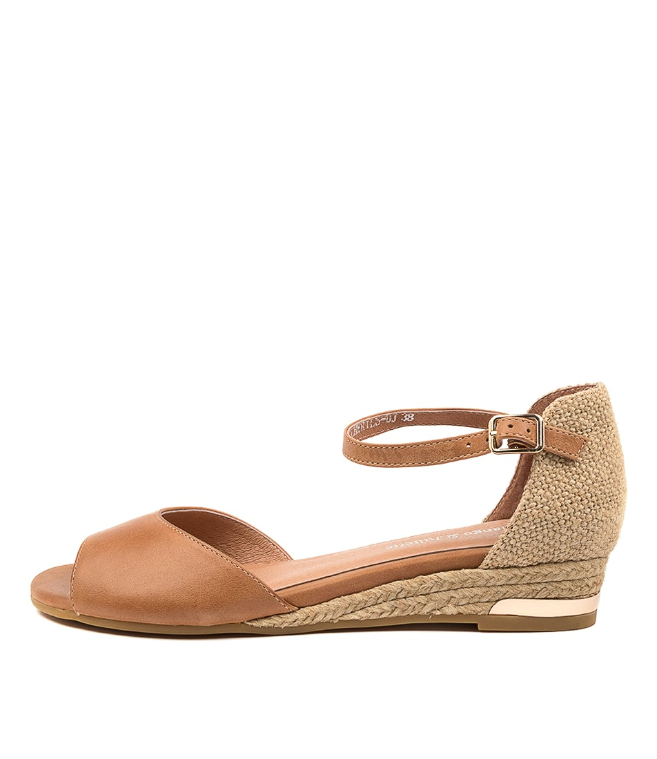 Buy Django & Juliette Cheryls Dj Tan Tan Flat Sandals online with free shipping