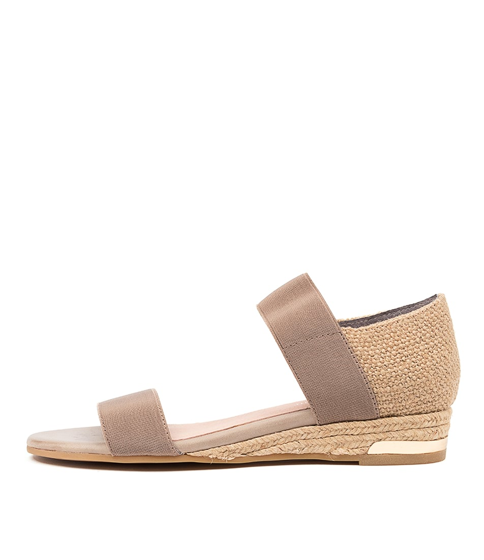 Buy Django & Juliette Cicero Dj Taupe Hessian Flat Sandals online with free shipping