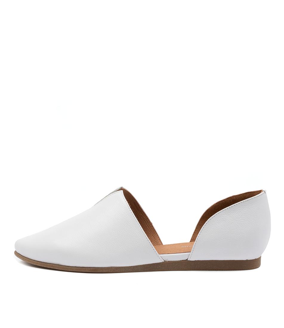 Buy Django & Juliette Corso Dj White Flats online with free shipping