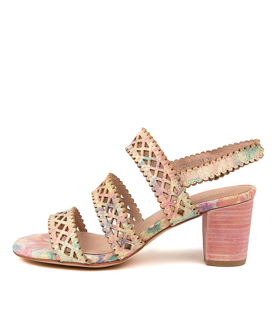 Buy Django & Juliette Cristal Dj Pink Floral Heeled Sandals online with free shipping